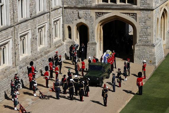 """Scanpix"" nuotr./Princo Philipo laidotuvių akimirka"