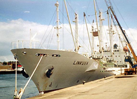 """ve.lt nuotr./Nuskendęs laivas """"Linkuva"""". Kodėl tada, kai jis nuskendo, plaukiojo su Belizo vėliava, nors buvo registruotas Klaipėdoje, iki šiol atsakymo nerasta."""