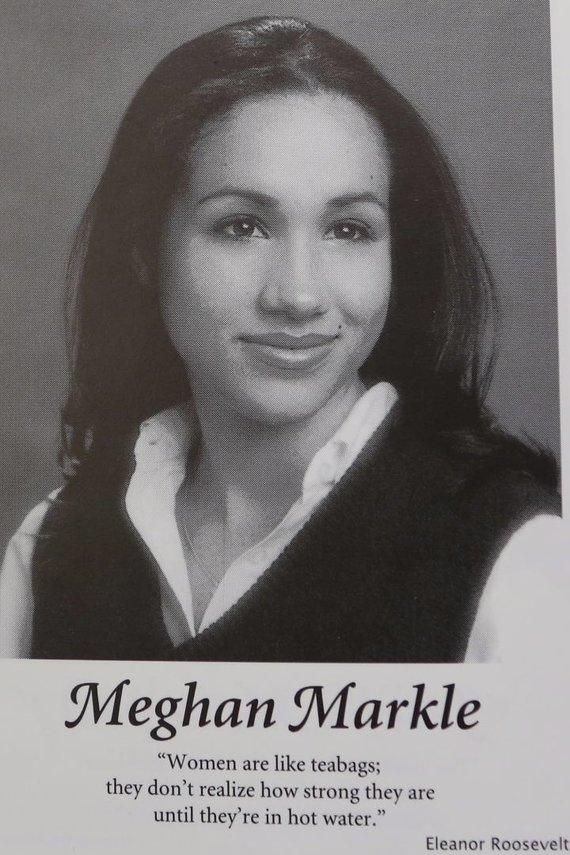 Vida Press nuotr./Meghan Markle klasės albume
