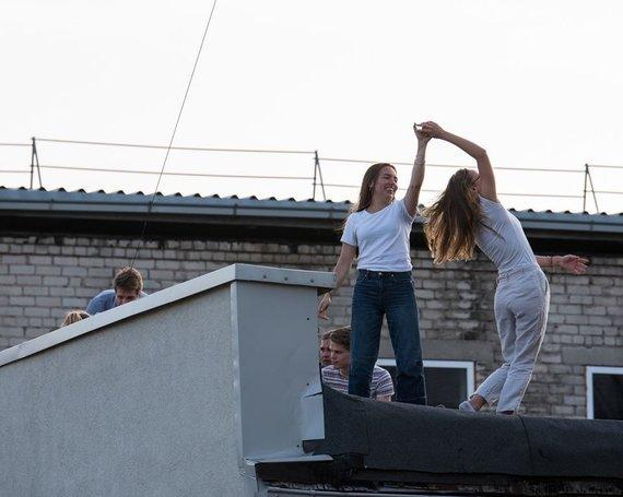 """Gražvydo Kaškelio nuotr. /""""LRT Opus terasos"""" akimirka"""