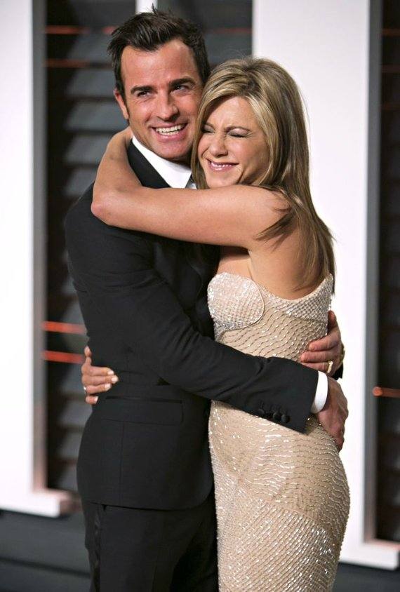 """Scanpix"" nuotr./Jennifer Aniston ir Justinas Therouxas"