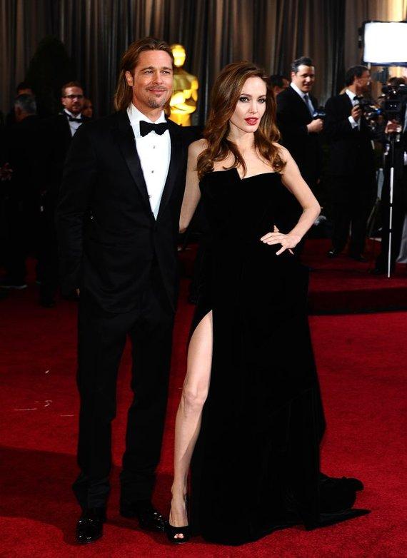 """""""Scanpix"""" nuotr./Angelina Jolie ir Bradas Pittas"""