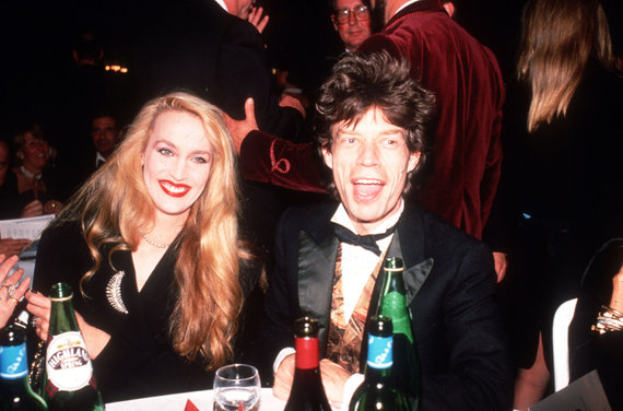Vida Press nuotr./Mickas Jaggeris ir Jerry Hall