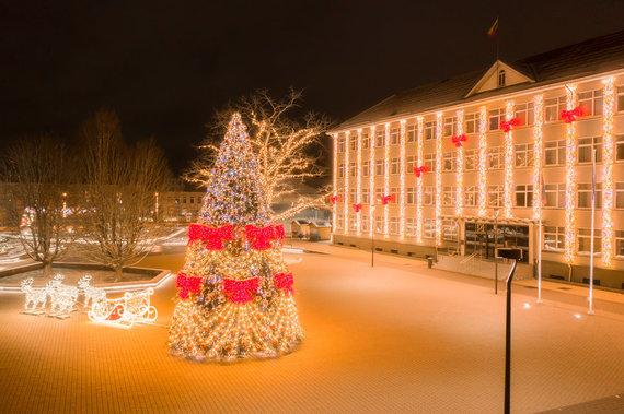Gabrieliaus Tamošiūno nuotr./Širvintų miesto Kalėdų eglutė