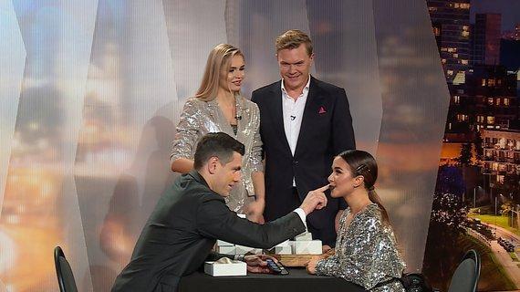 """TV3 nuotr./Milita Daikerytė laidoje """"Gero vakaro šou"""""""
