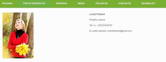 15min nuotr./M.Puidoko patarėjos duomenys M.Gabrilavičiaus verslo tinklalapyje, kovo 26 d.