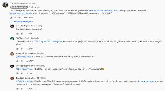 "15min nuotr./""PressJazz"" pagalba lėšos renkamos ir K.Juraičiui remti"
