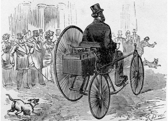 Wikimedia nuotr./Elektrinis Gustave'o Trouvé triratis 1881-aisiais