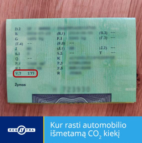 """Regitra"" nuotr./Automobilio registracijos liudijimas"