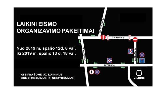 Vilniaus savivaldybės nuotr./Vilniaus g. eismo pokyčiai