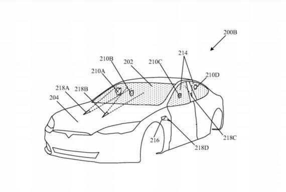 """Gamintojų nuotr./""""Tesla"""" patente pažymėtos lazerių vietos"""