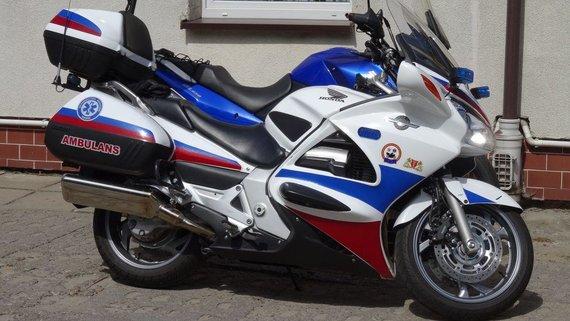 Wikimedia nuotr./Greitosios pagalbos motociklas Honda ST1300 Gdanske