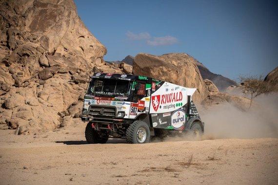 Riwald Dakar Team nuotr./Renault C460 Hybrid Edition – hibridinis sunkvežimis, siekiantis kirsti 2020-ųjų Dakaro finišo liniją