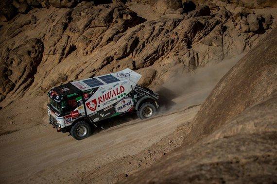Riwald Dakar Team nuotr./Renault C460 Hybrid Edition kūrėjai didelį dėmesį skyrė ir saugumui. (Riwald Dakar Team nuotrauka)