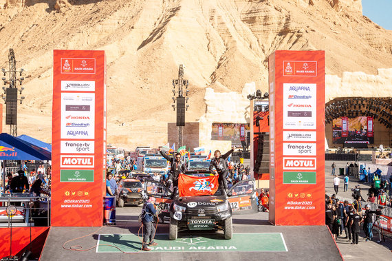 Ryčio Šeškaičio nuotr./B.Vanagas ir F.Palmeiro pasiekė Dakaro finišą