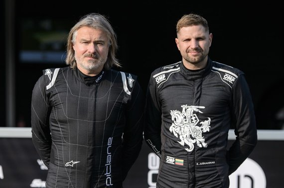 """Rytis Šeškaitis / """"Inbank team Pitlane""""/Edvinas Juškauskas ir Šarūnas Paliokas"""