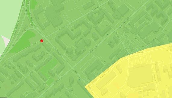 Ekrano nuotr./Apmokestintos automobilių stovėjimo aikštelės S.Konarskio g. vieta