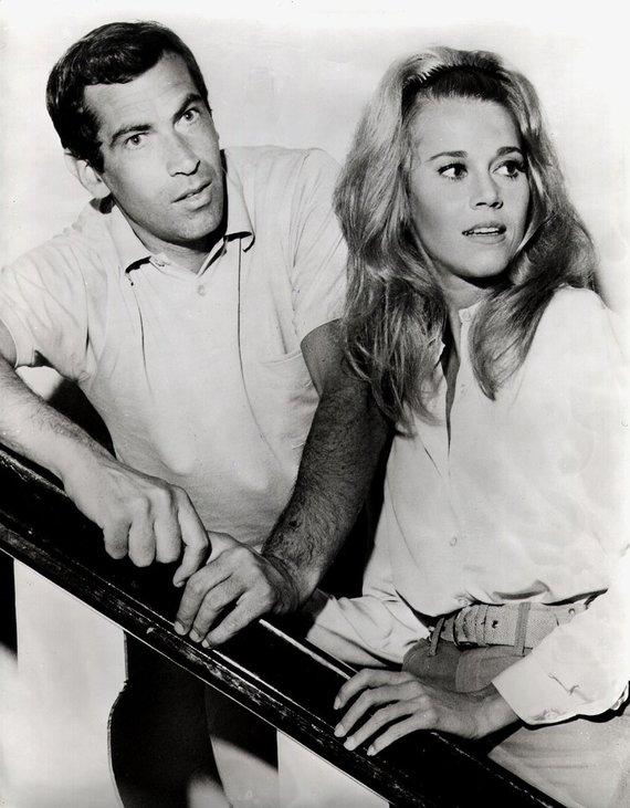 Vida Press nuotr./Rogeris Vadimas ir Jane Fonda