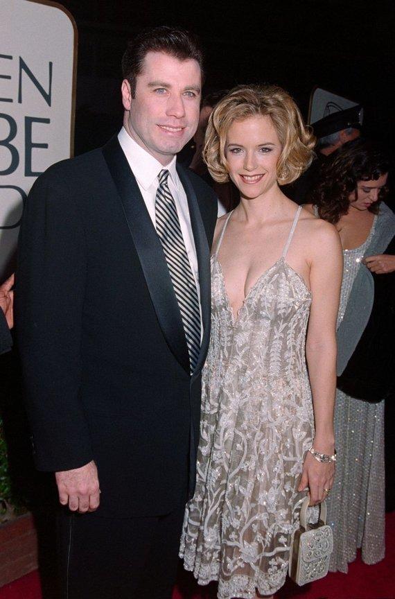 Vida Press nuotr./Holivudo aktorius Johnas Travolta su žmona Kelly Preston