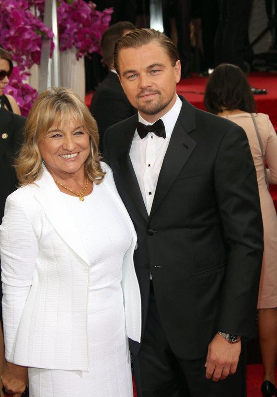 Vida Press nuotr./Aktorius Leonardo DiCaprio su mama Irmelin Indenbirken