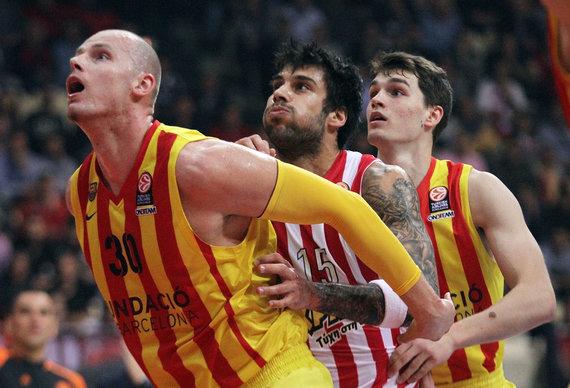 Euroleague.net/Maciejus Lampe, Georgios Printezis ir Mario Hezonja