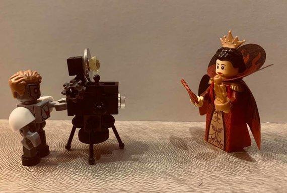 "Feisbuko grupės ""LEGO® Klubas Lietuva"" nuotr./Agniaus D. senovinis dumplinis fotoaparatas"