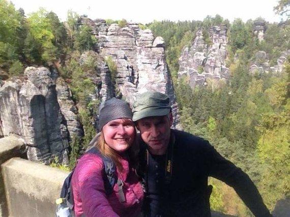 Asmeninio albumo nuotr./Silvija Martinkutė-Plentė su vyru Robertu kelionėje po Vokietiją