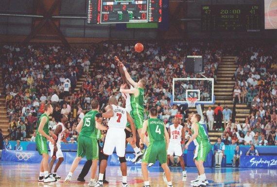 Stephen Munday nuotr./Sidnėjaus olimpinės žaidynės: Lietuva – JAV