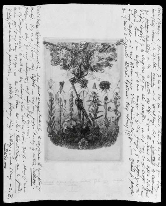 """""""Scanpix"""" nuotr./Fragmentas iš Charles'io Baudelaire'o kūrinio """"Piktybės gėlės"""", 1860 m."""