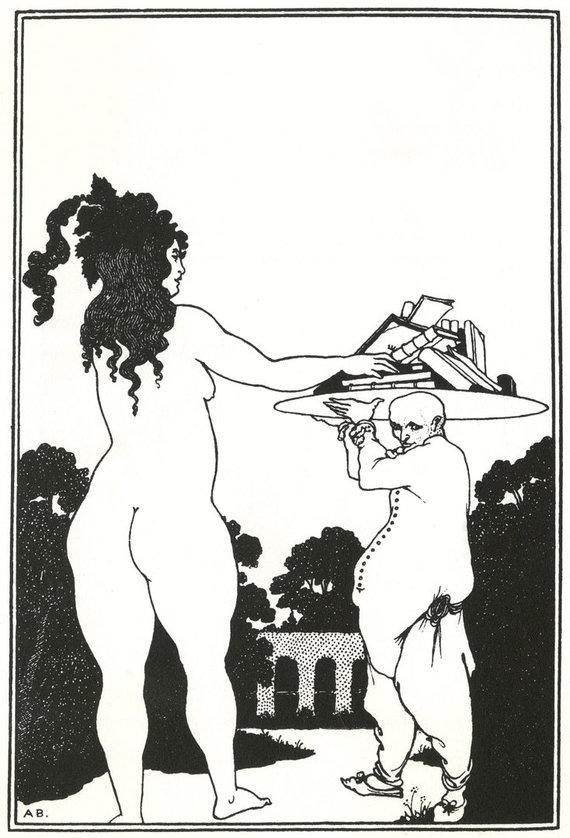 """""""Scanpix"""" nuotr./""""Knygų lėkštė"""" (angl. """"The book-plate""""), Aubrey Beardsley, 1890 metai"""
