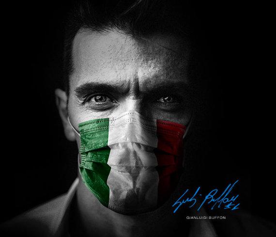 """Never Give Up"" kampanijos nuotrauka/Gianluigi Buffonas"
