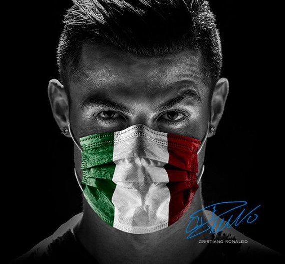 """Never Give Up"" kampanijos nuotrauka/Cristiano Ronaldo"