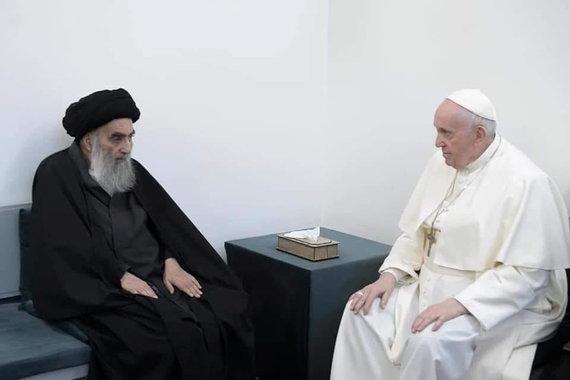 """Reuters""/""Scanpix"" nuotr./Popiežius Pranciškus susitiko su Ali Sistani"