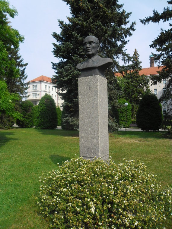 Biustas prof. V. Lašui
