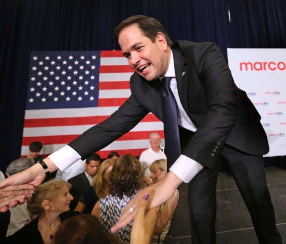 """""""Scanpix""""/""""Sipa USA"""" nuotr./Marco Rubio šventė pergalę Floridoje"""
