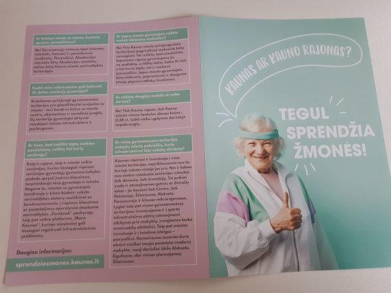 Kauno miesto savivaldybės nuotr./Kauno miesto savivaldybės platinti lankstinukai