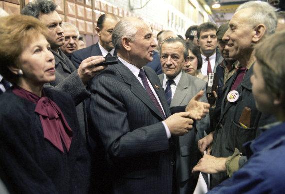 """""""Scanpix""""/""""RIA Novosti"""" nuotr./Michailas Gorbačiovas Lietuvoje"""