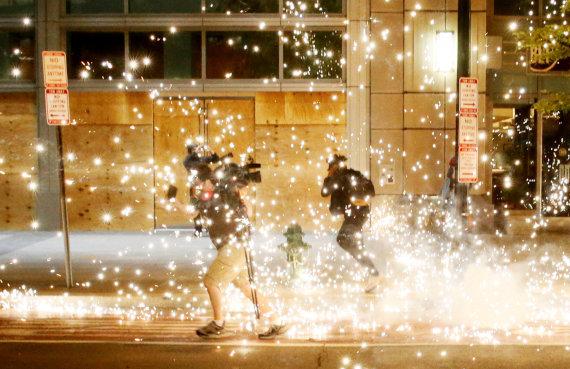 """""""Reuters""""/""""Scanpix"""" nuotr./Protestai Mineapolyje"""