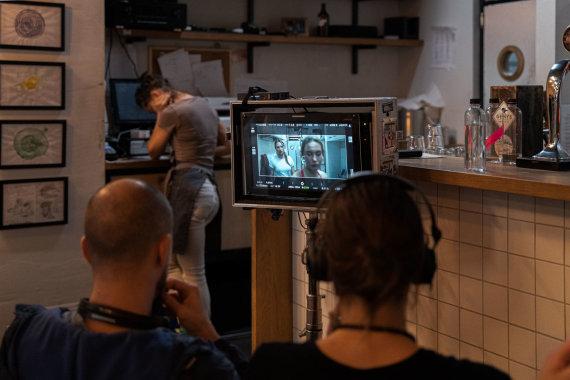 """M-FILMS nuotr./Filmo """"Paralyžius"""" filmavimo aikštelė"""