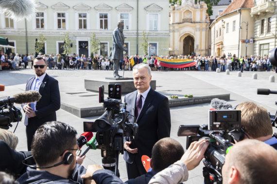 Luko Balandžio / 15min nuotr./Gitano Nausėdos inauguracija: pagerbtas Jonas Basanavičius