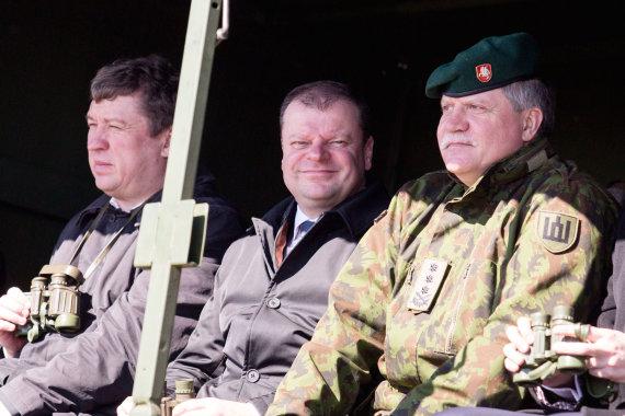 Luko Balandžio / 15min nuotr./Raimundas Karoblis, Saulius Skvernelis ir Vytautas Jonas Žukas