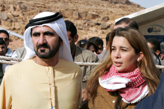 Vida Press nuotr./Šeichas Mohammedas bin Rashidas al Maktoumas su princese Haya