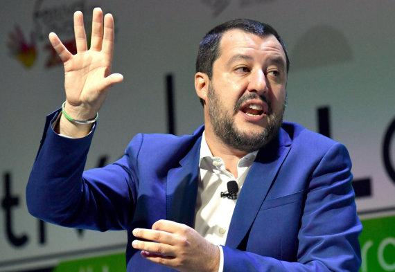 """""""Scanpix""""/AP nuotr./Matteo Salvini"""