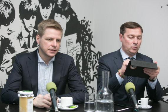 Juliaus Kalinsko/15min.lt nuotr./Remigijus Šimašius ir Artūras Zuokas