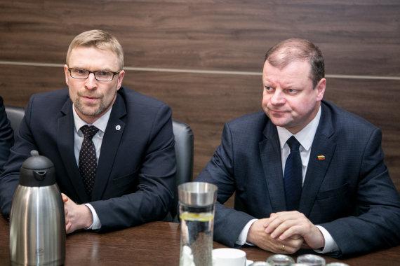 Juliaus Kalinsko / 15min nuotr./Linas Kukuraitis ir Saulius Skvernelis
