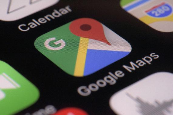 """""""Scanpix""""/AP nuotr./""""Google Maps"""" programėlė"""