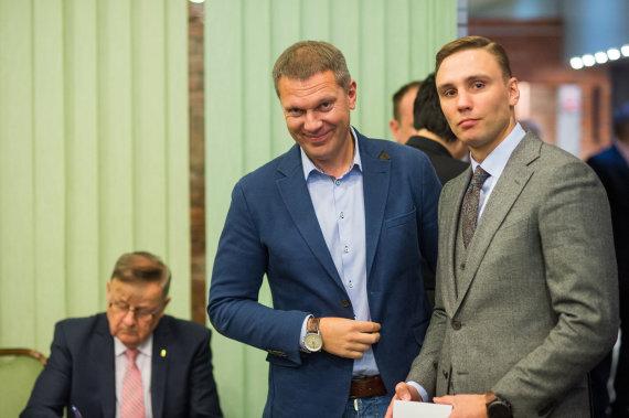 Alfredo Pliadžio nuotr./Darius Šaluga ir Donatas Mačianskas (dešinėje).