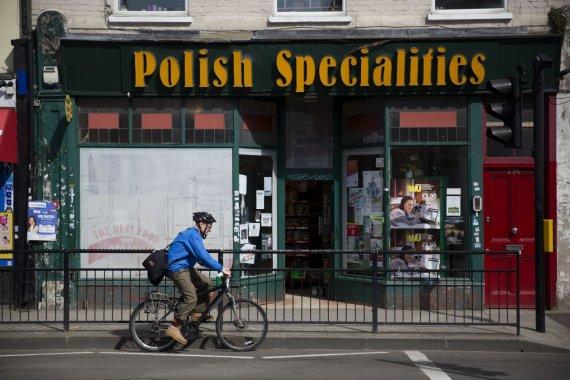 """""""Scanpix""""/AP nuotr./Imigrantai iš Lenkijos Didžiojoje Britanijoje"""