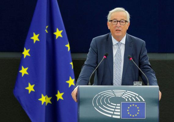 """""""Reuters""""/""""Scanpix"""" nuotr./Europos Komisijos vadovo Jeano-Claude'o Junckerio metinis kreipimąsis į Europos Parlamentą"""