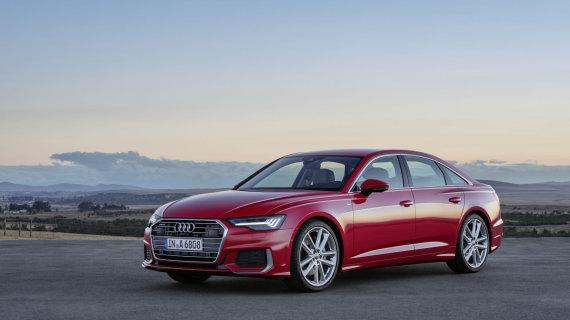 """Gamintojo nuotr./""""Audi"""" suskubo – naują A6 pristatė dar prieš Ženevos parodą"""